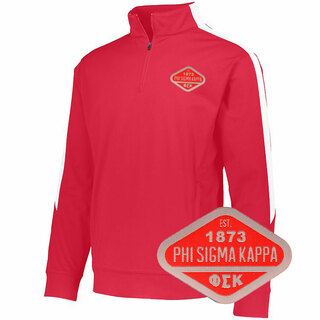 DISCOUNT-Phi Sigma Kappa Woven Emblem Greek Medalist Pullover