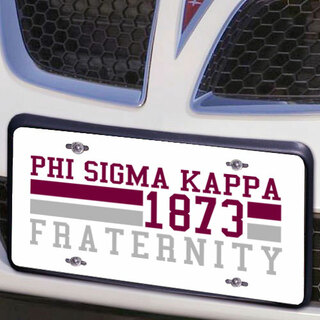 Phi Sigma Kappa Year License Plate Cover