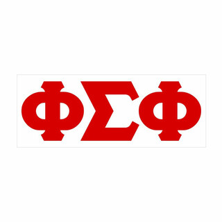 Phi Sigma Phi Big Greek Letter Window Sticker Decal