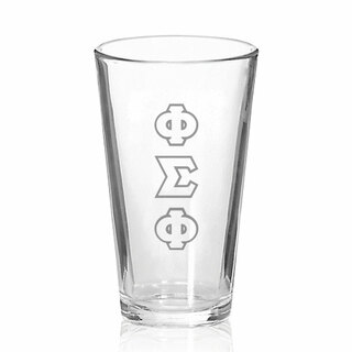 Phi Sigma Phi Big Letter Mixing Glass