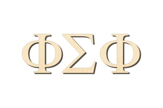 Phi Sigma Phi Big Wooden Greek Letters