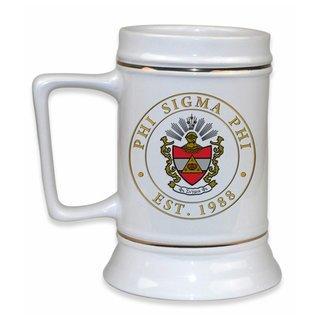 Phi Sigma Phi Ceramic Stein