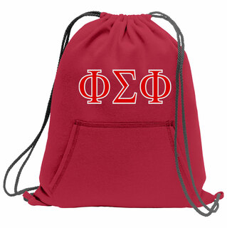 Phi Sigma Phi Fleece Sweatshirt Cinch Pack