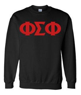 Phi Sigma Phi Greek Letter Sweatshirt