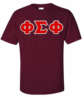 Phi Sigma Phi Greek Letter Twill Tee