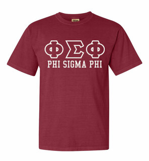 Phi Sigma Phi Greek Outline Comfort Colors Heavyweight T-Shirt