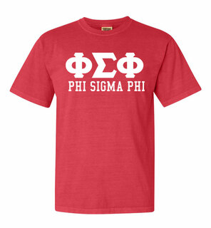 Phi Sigma Phi Greek Custom Comfort Colors Heavyweight T-Shirt