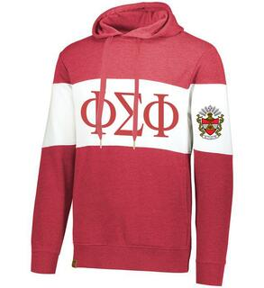Phi Sigma Phi Ivy League Hoodie W Crest On Left Sleeve