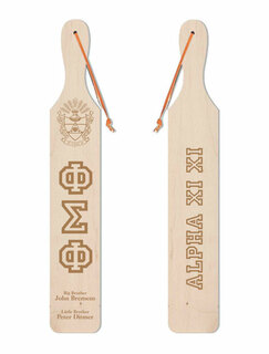 Phi Sigma Phi Old School Wood Greek Paddle
