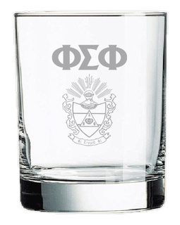 Phi Sigma Phi Rocks Glass