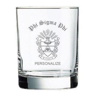 Phi Sigma Phi Rocks Glass