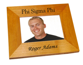 Phi Sigma Phi Wood Picture Frame