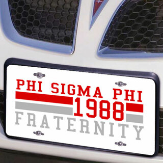 Phi Sigma Phi Year License Plate Cover