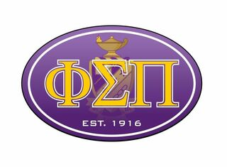Phi Sigma Pi Color Oval Decal