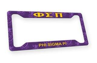 Phi Sigma Pi Custom License Plate Frame