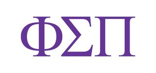 Phi Sigma Pi Greek Letter Window Sticker Decal
