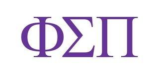 Phi Sigma Pi Greek Letter Window Sticker Decal