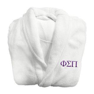 Phi Sigma Pi Lettered Bathrobe