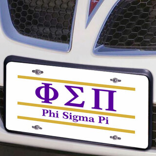 Phi Sigma Pi Lettered Lines License Cover