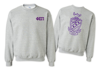 Phi Sigma Pi Lettered World Famous Greek Crewneck