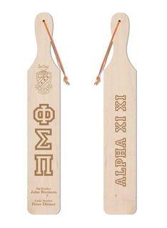 Phi Sigma Pi Old School Wood Greek Paddle