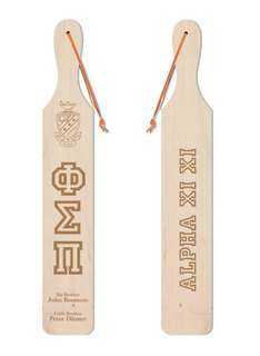 Phi Sigma Pi Old School Wood Greek Paddle