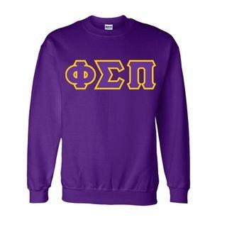 Phi Sigma Pi Sewn Lettered Crewneck Sweatshirt