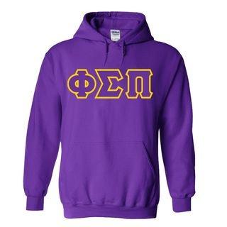 Phi Sigma Pi Sewn Lettered Hooded Sweatshirts