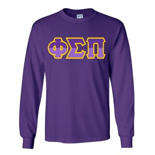 Phi Sigma Pi Two Tone Greek Lettered Longsleeve Tee