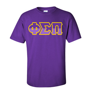 Phi Sigma Pi Two Tone Greek Lettered T-Shirt