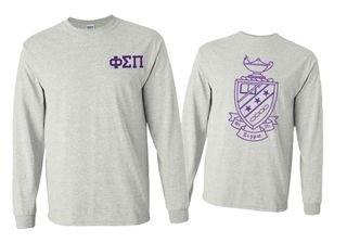 Phi Sigma Pi World Famous Crest - Shield Long Sleeve T-Shirt- $19.95!