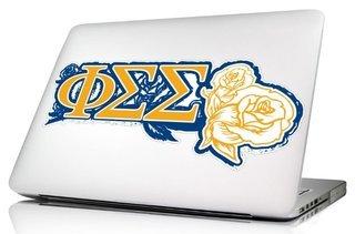Phi Sigma Sigma 10 x 8 Laptop Skin/Wall Decal