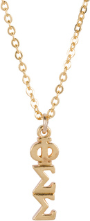Phi Sigma Sigma 22 k Yellow Gold Plated Lavaliere Necklace - ON SALE!