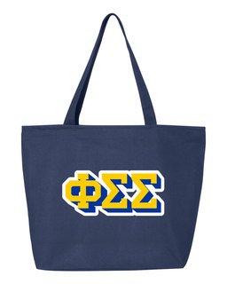 Phi Sigma Sigma 3D Letter Tote Bag