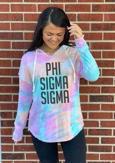 Phi Sigma Sigma Angel Terry Rainbow Sherbet Nora Pullover