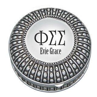 Phi Sigma Sigma Antique Beaded Pin Box