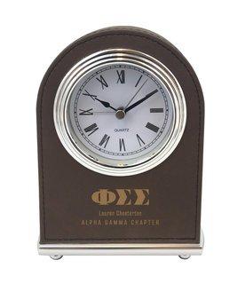 Phi Sigma Sigma Arch Desk Clock