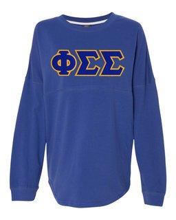 DISCOUNT-Phi Sigma Sigma Athena French Terry Dolman Sleeve Sweatshirt