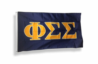 Phi Sigma Sigma Big Greek Letter Flag