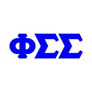 Phi Sigma Sigma Big Greek Letter Window Sticker Decal