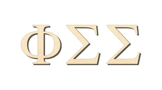 Phi Sigma Sigma Big Wooden Greek Letters