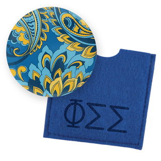 Phi Sigma Sigma Button Mirror