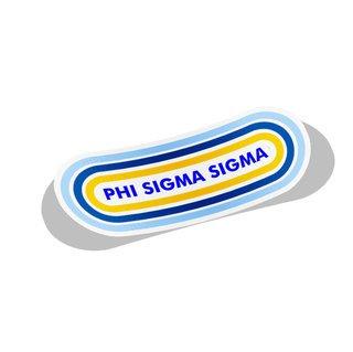 Phi Sigma Sigma Capsule Decal Sticker