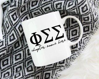 Phi Sigma Sigma Chapter Mug