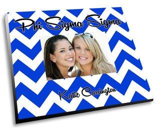 Phi Sigma Sigma Chevron Picture Frame