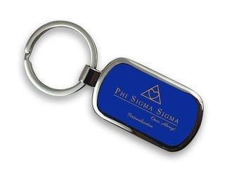 Phi Sigma Sigma Chrome Mascot Key Chain