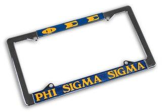 Phi Sigma Sigma Chrome License Plate Frames