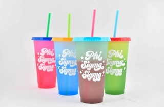 Phi Sigma Sigma Color Changing Cups (Set of 4)