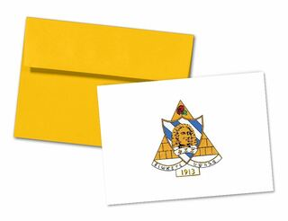 Phi Sigma Sigma Color Crest - Shield Notecards(6)