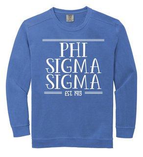 Phi Sigma Sigma Comfort Colors Custom Crewneck Sweatshirt